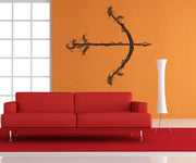 Vinyl Wall Decal Sticker Bow and Arrow and Vines #OS_DC539