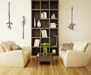 Vinyl Wall Decal Sticker Three Nature Bows #OS_DC541