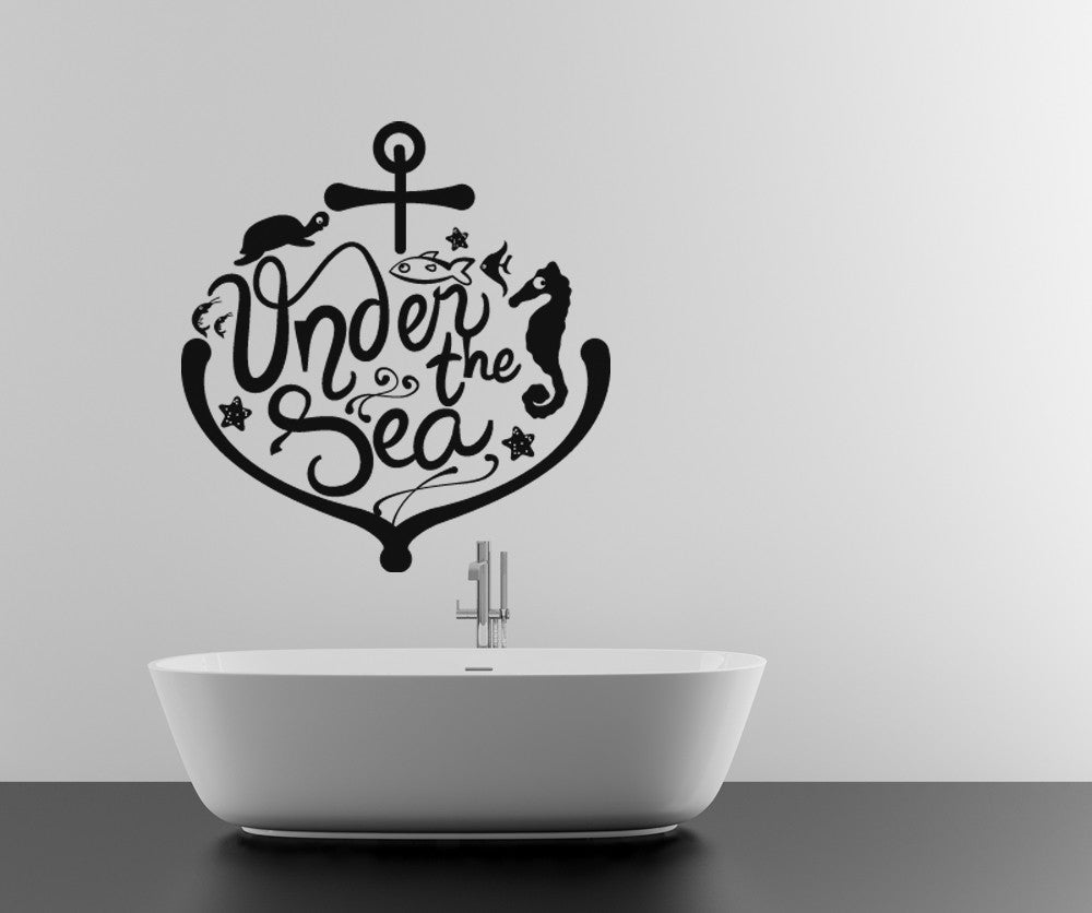 Vinyl wall decal sticker under the sea anchor and animals osdc563 amipublicfo Image collections