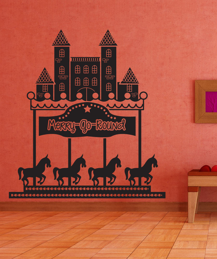 Vinyl Wall Decal Sticker Merry Go Round #OS_DC566
