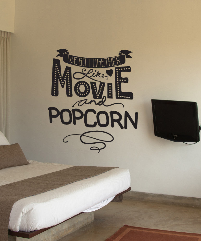 Vinyl Wall Decal Sticker Movie And Popcorn Os Dc590
