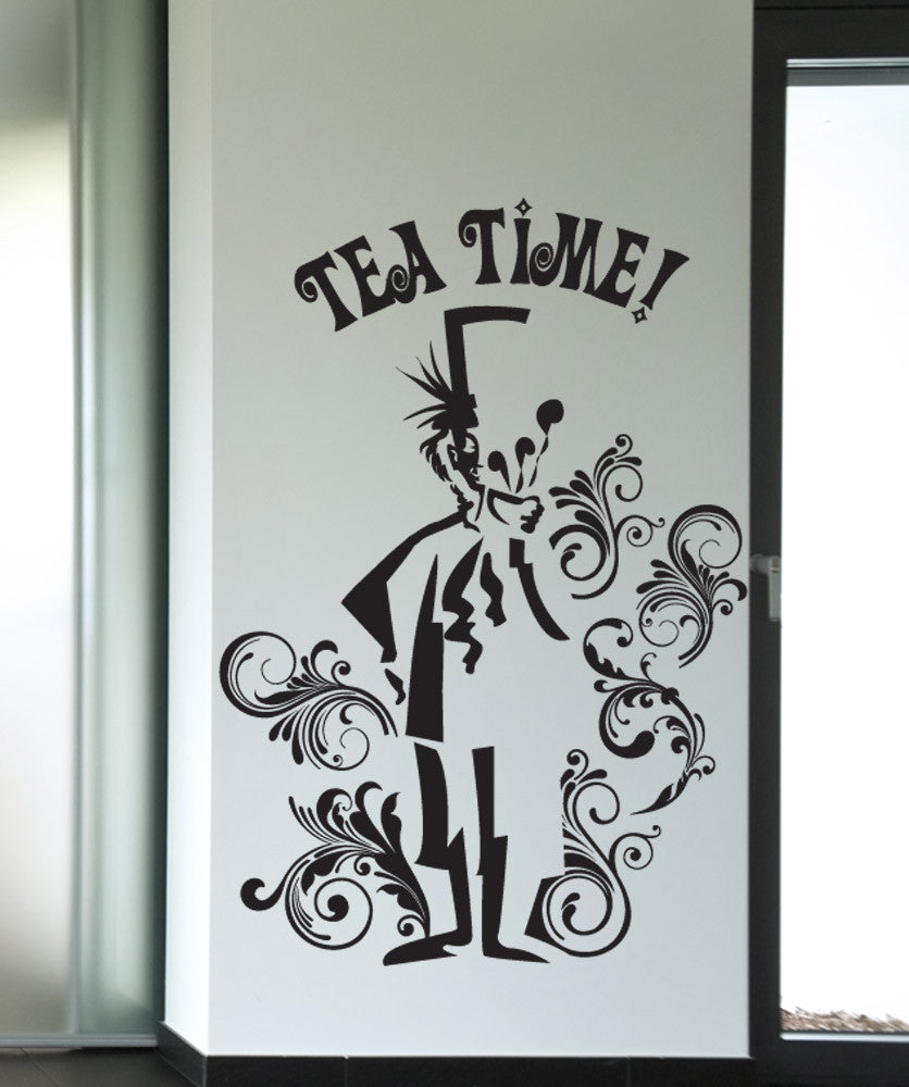 Vinyl Wall Decal Sticker Mad Hatter Tea Time #OS_DC615