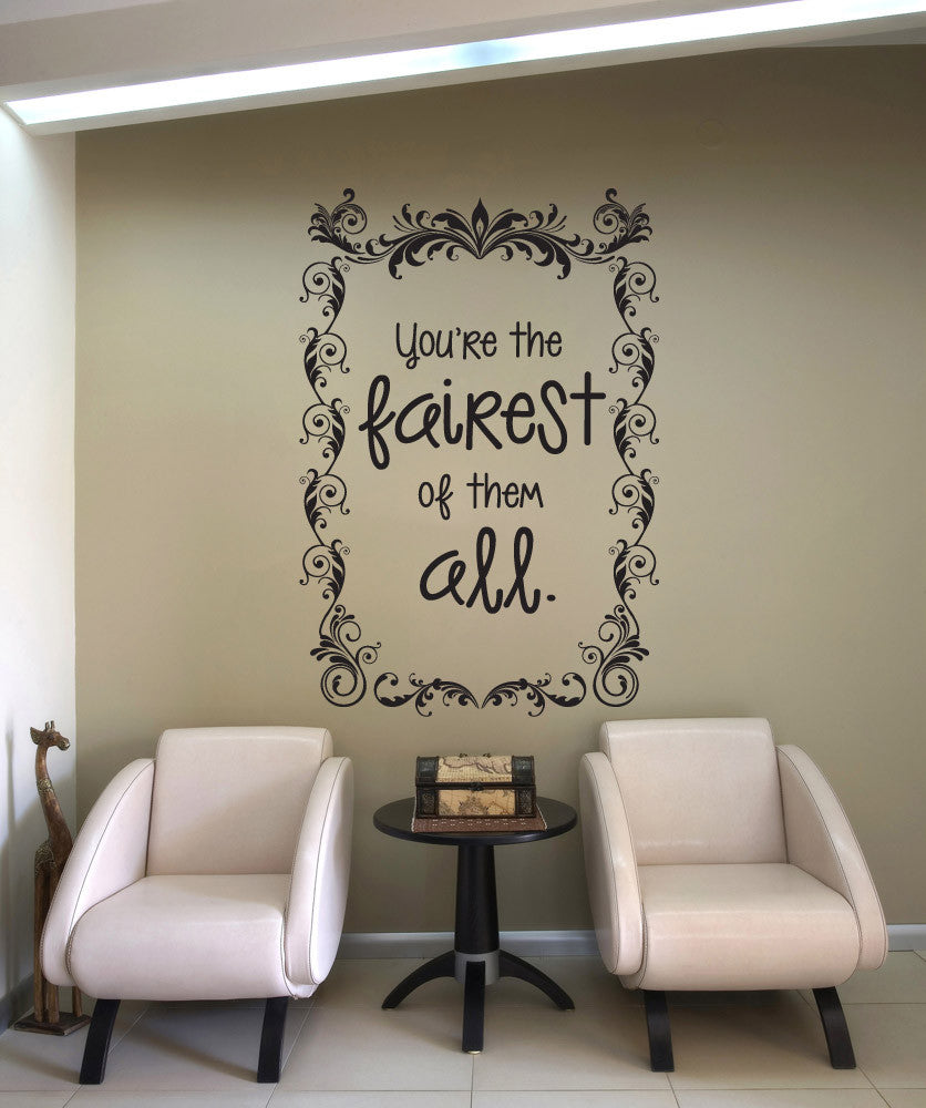 Wall: Vinyl Wall Decal Sticker Mirror Mirror On The Wall #OS_DC619