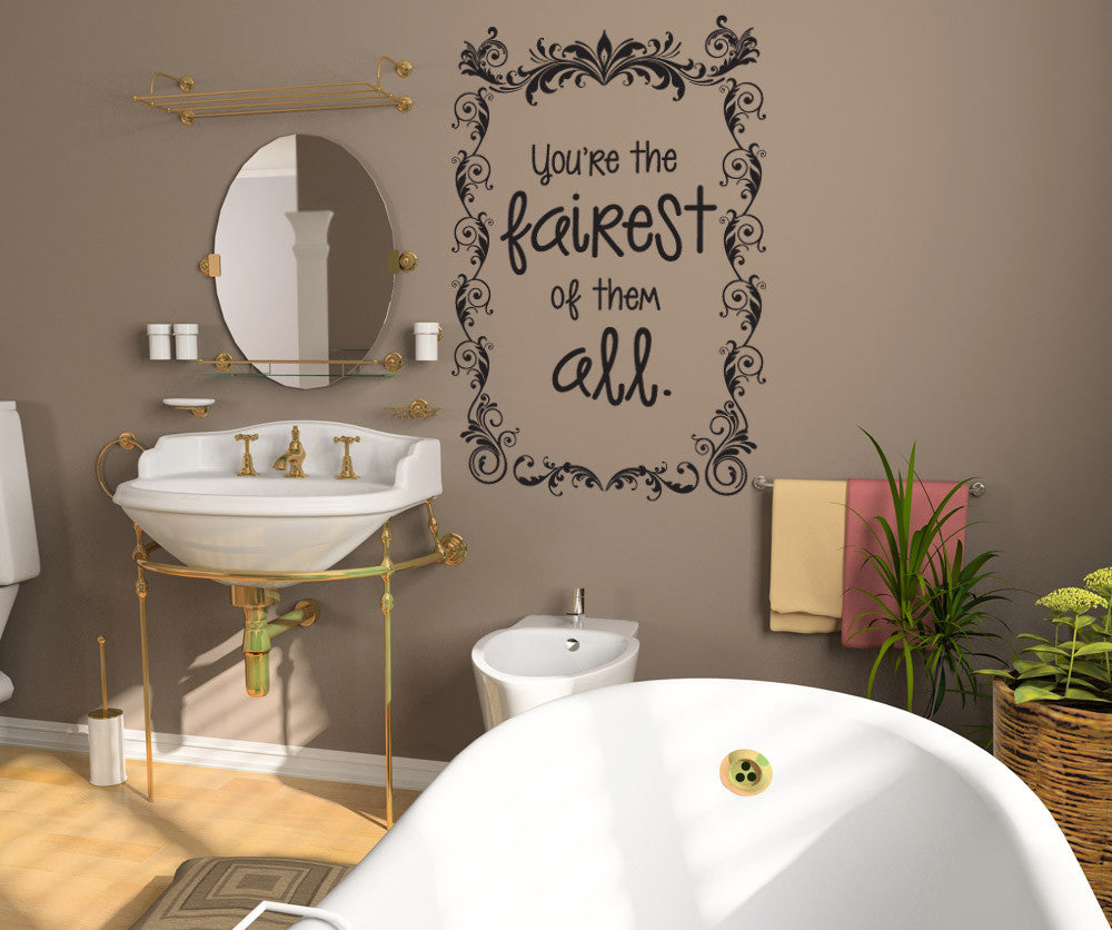Vinyl Wall Decal Sticker Mirror Mirror On The Wall OSDC - Wall decals mirror