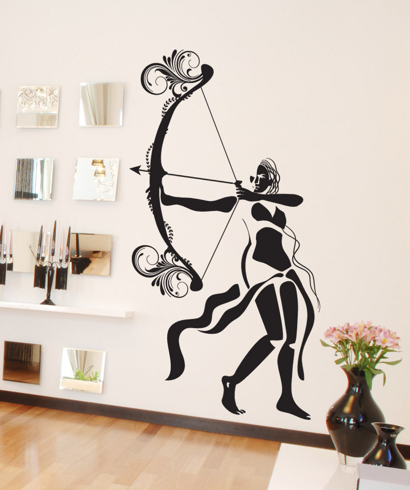 Vinyl Wall Decal Sticker Woman Archer #OS_DC632