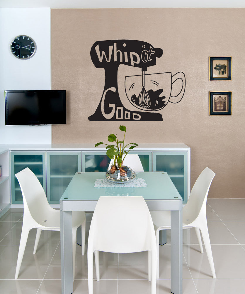 Vinyl Wall Decal Sticker Whip it Good #OS_DC635