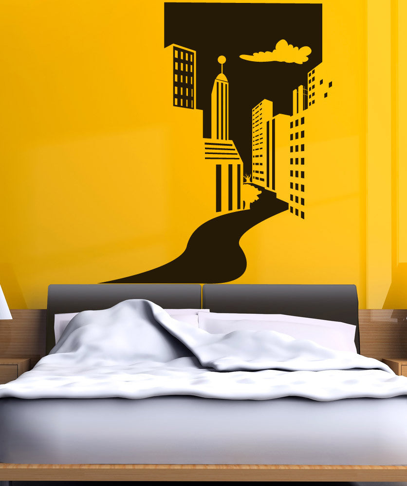 Vinyl Wall Decal Sticker City Doorway #OS_DC651
