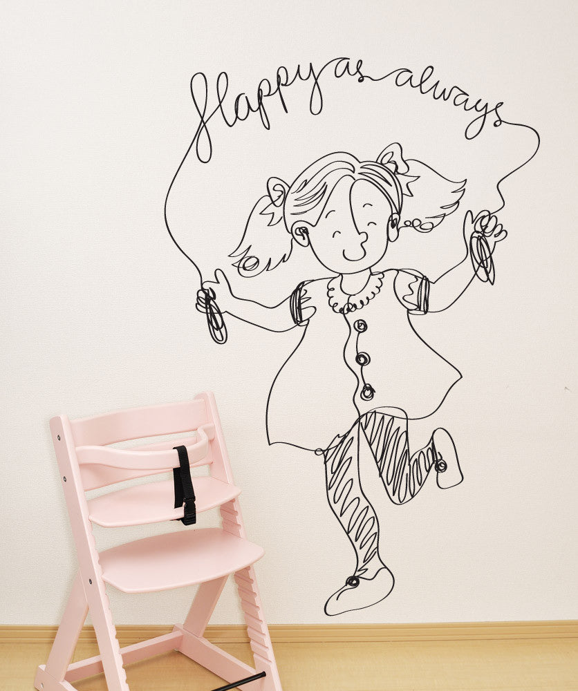 Vinyl Wall Decal Sticker Happy as Always #OS_DC656