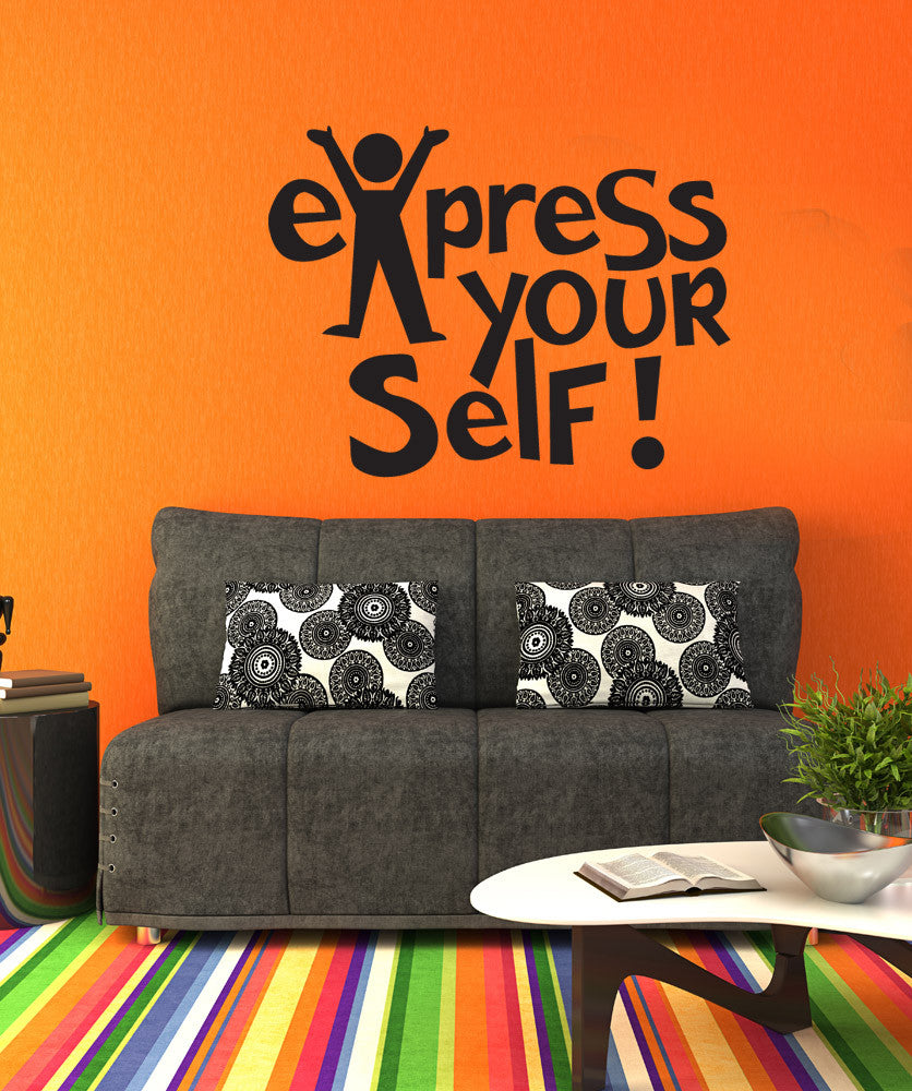 Vinyl Wall Decal Sticker Express Yourself #OS_DC658