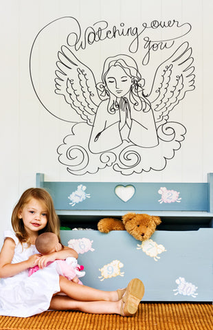 Vinyl Wall Decal Sticker Watching Over You #OS_DC644