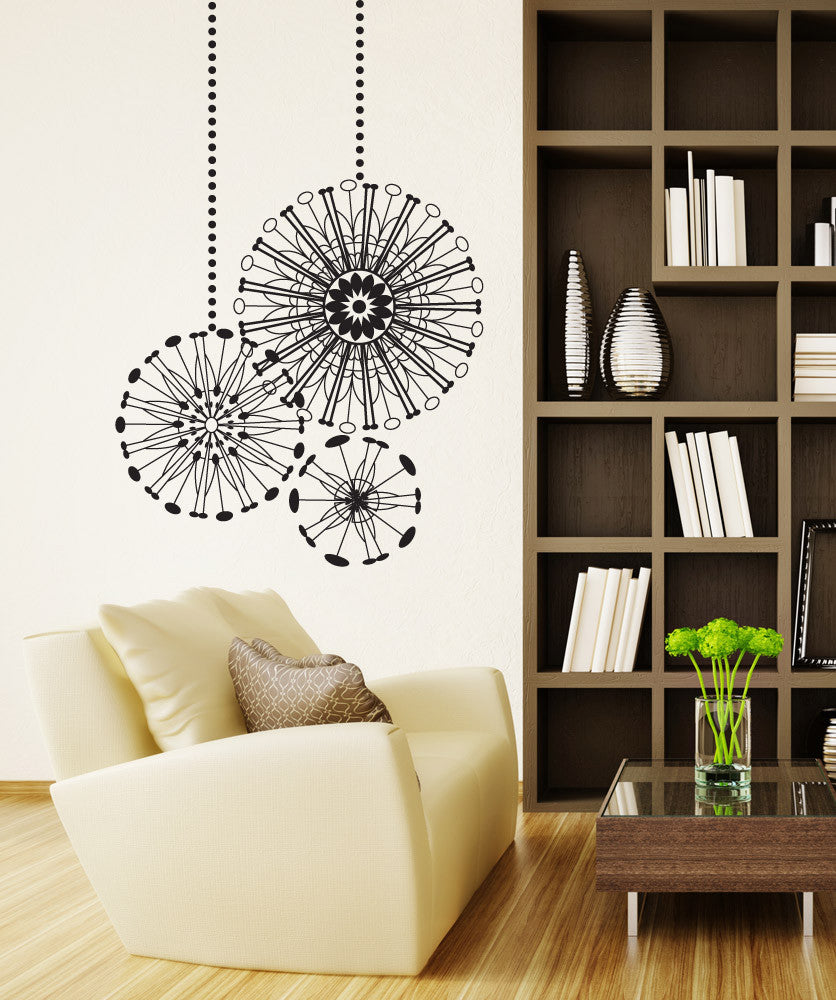 Vinyl Wall Decal Sticker Radial Ornaments #OS_DC668