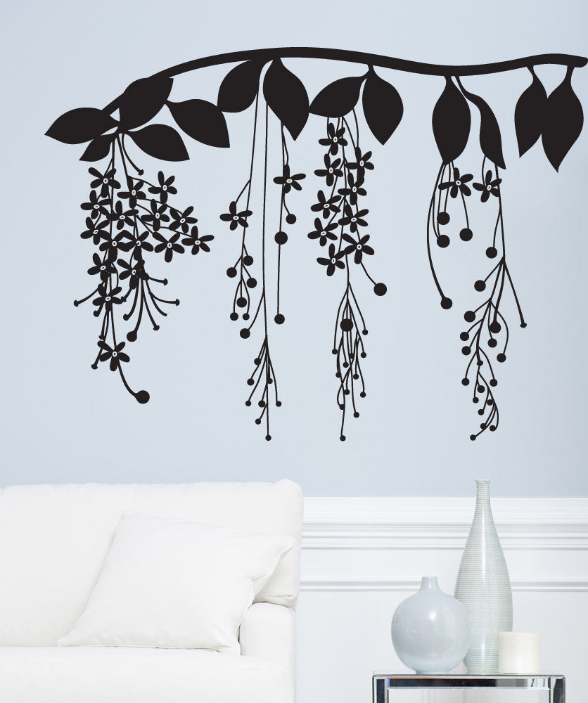 Vinyl Wall Decal Sticker Pretty Floral Vine #OS_DC672
