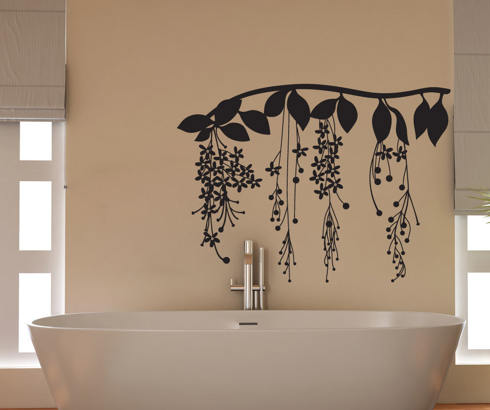 Vinyl Wall Decal Sticker Pretty Floral Vine Os Dc672