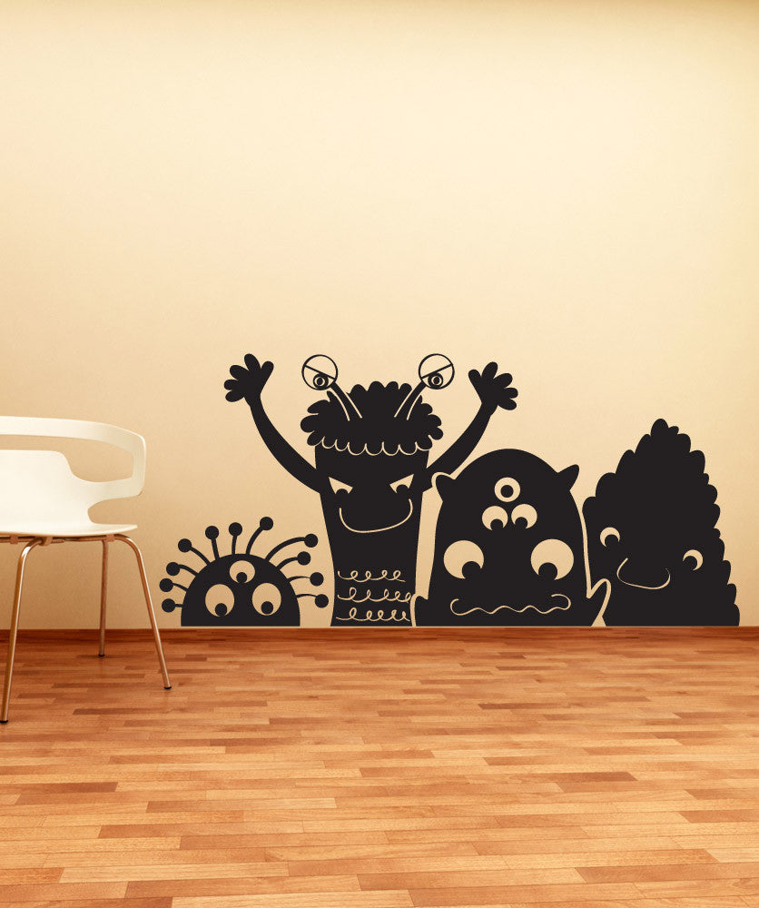 Vinyl Wall Decal Sticker Silly Aliens #OS_DC673