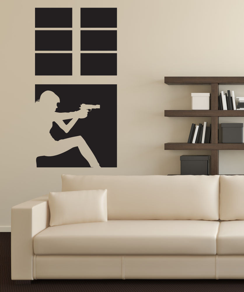 Vinyl Wall Decal Sticker Window Sneak Attack #OS_DC681