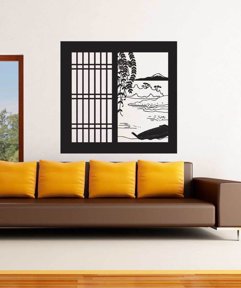 Vinyl Wall Decal Sticker Japanese Window View OSDC - Japanese wall decals