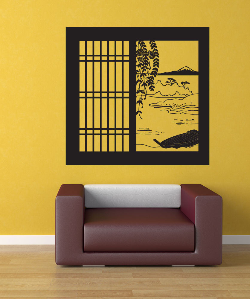 Vinyl Wall Decal Sticker Japanese Window View Os Dc684