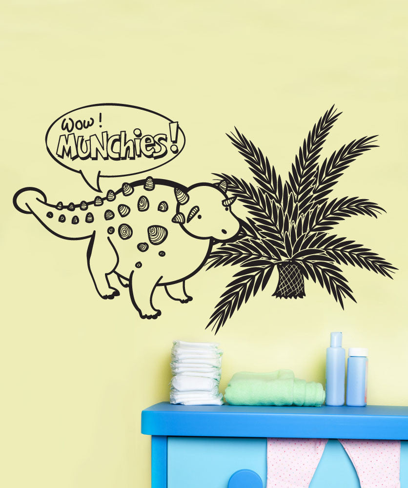 Vinyl Wall Decal Sticker Dinosaur Munchies #OS_DC688