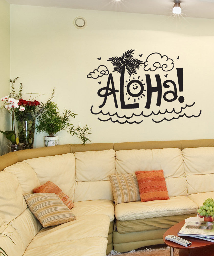 Vinyl Wall Decal Sticker Aloha #OS_DC713