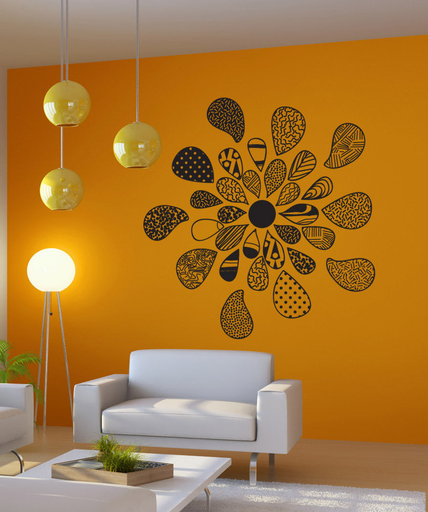 Vinyl Wall Decal Sticker Patterned Flower #OS_DC721