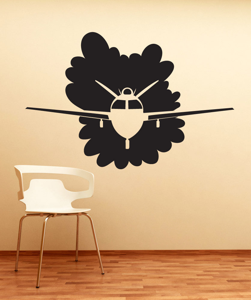 Vinyl Wall Decal Sticker Flying Plane #OS_DC744