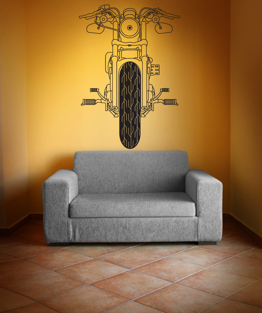Vinyl Wall Decal Sticker Front of Motorcycle #OS_DC748
