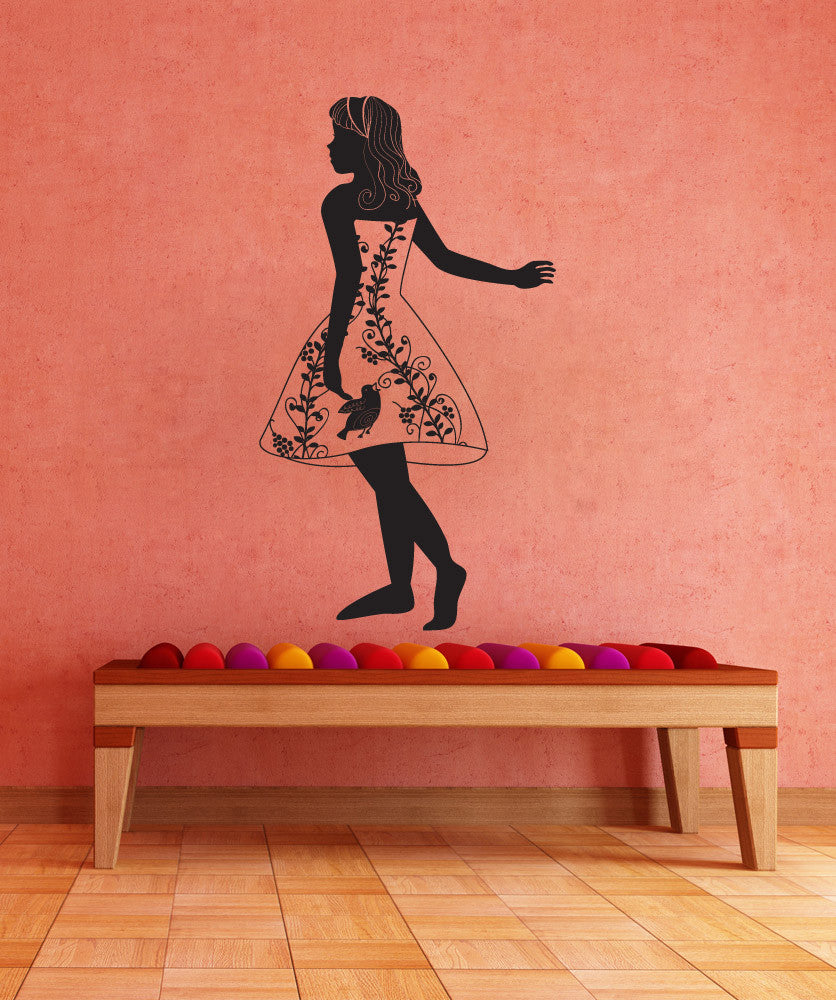 Vinyl Wall Decal Sticker Fairy Tale Maiden #OS_DC751