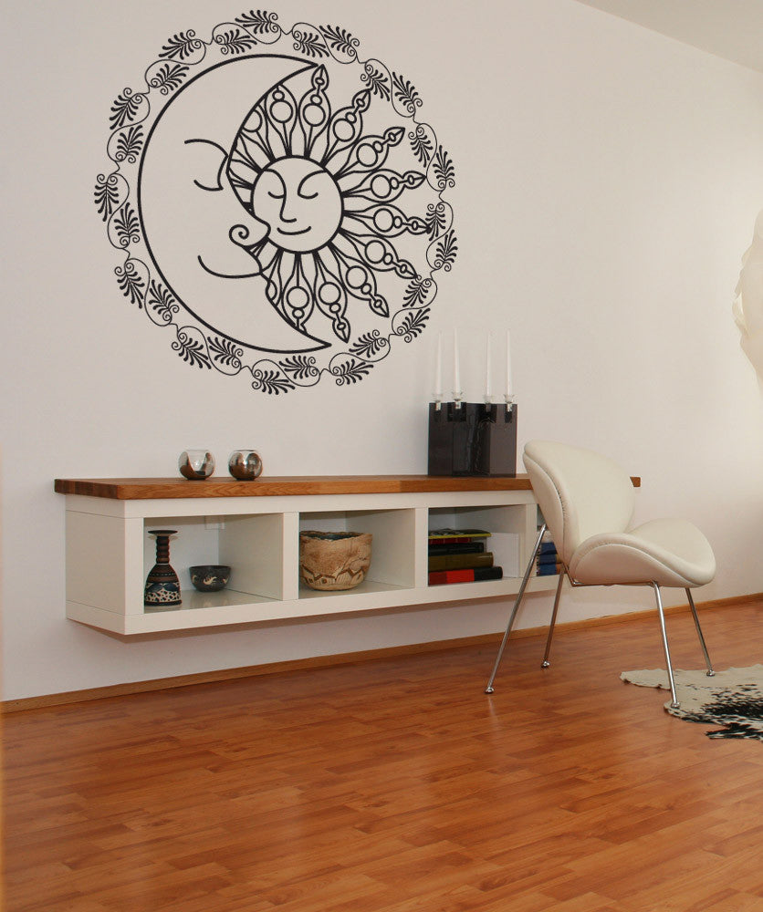 sun and moon wall decal sun and moon wall stickers. Black Bedroom Furniture Sets. Home Design Ideas