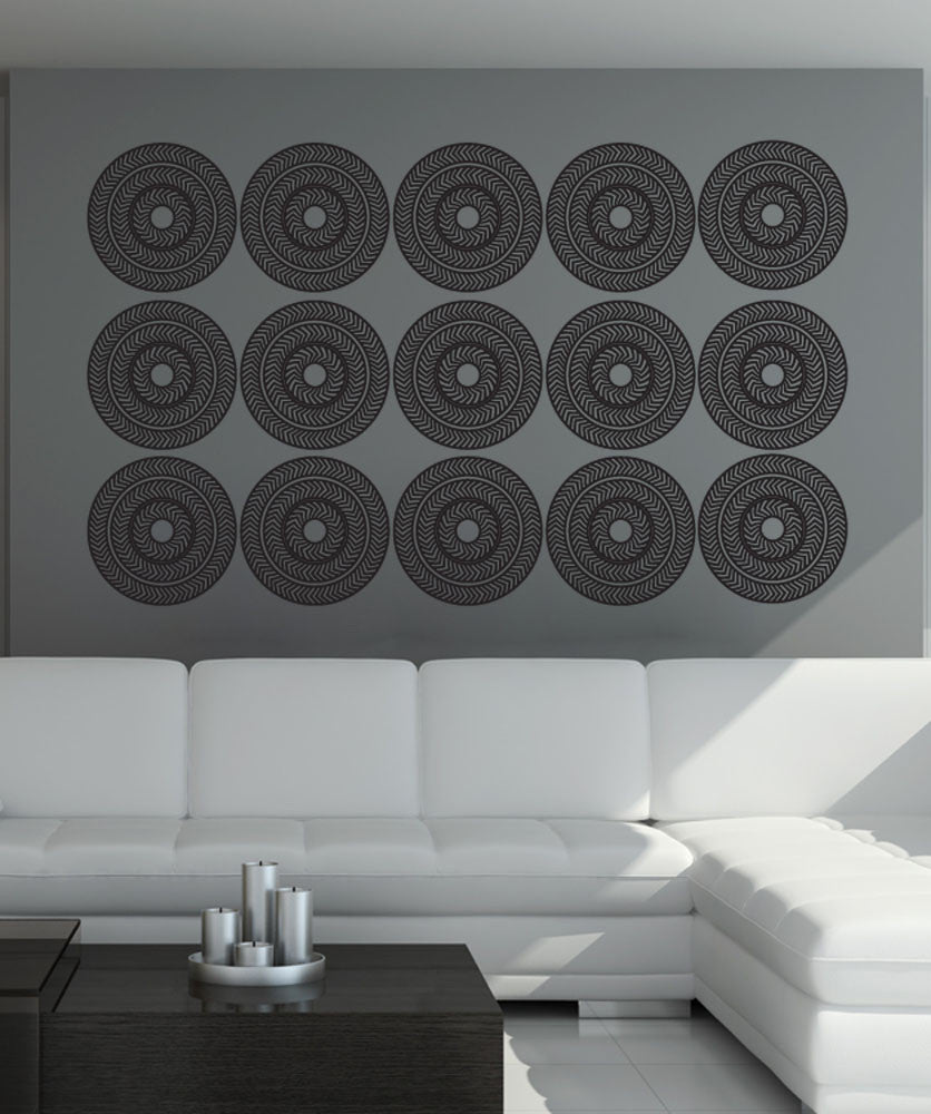 Vinyl Wall Decal Sticker Optical Illusion Circles #OS_DC771