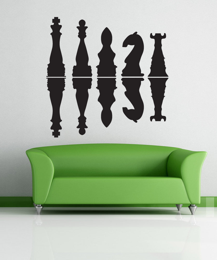 Vinyl Wall Decal Sticker Chess Pieces Shadows #OS_DC783