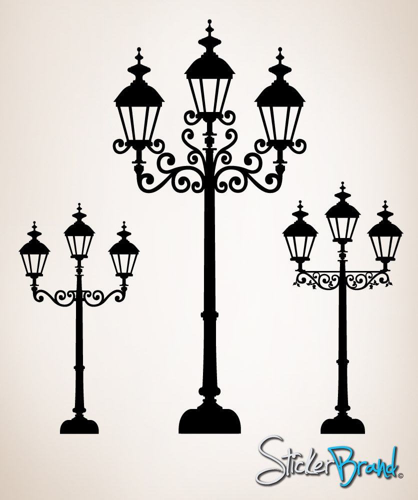 Vinyl Wall Decal Sticker 3 Stylist Street Lamps OS_ES1039