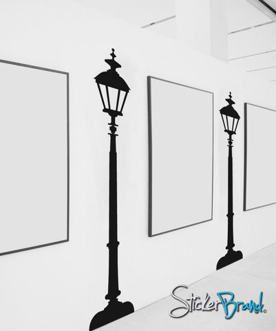 Vinyl Wall Decal Sticker Pair of Street Lamps OS_ES103