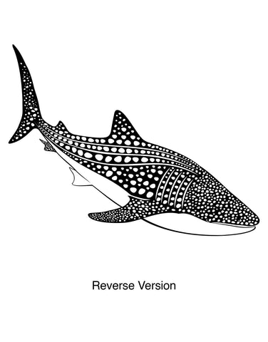 Whale Shark Vinyl Wall Decal Sticker. #OS_ES109