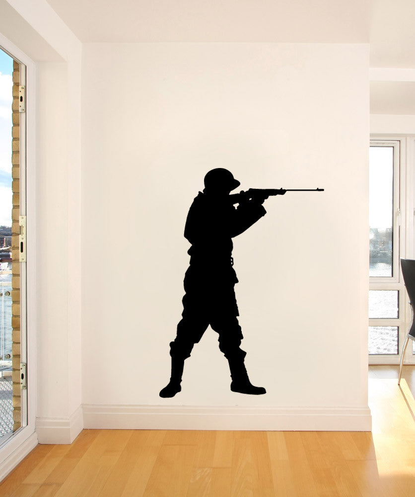 Vinyl Wall Decal Sticker Military Training #OS_MB1006
