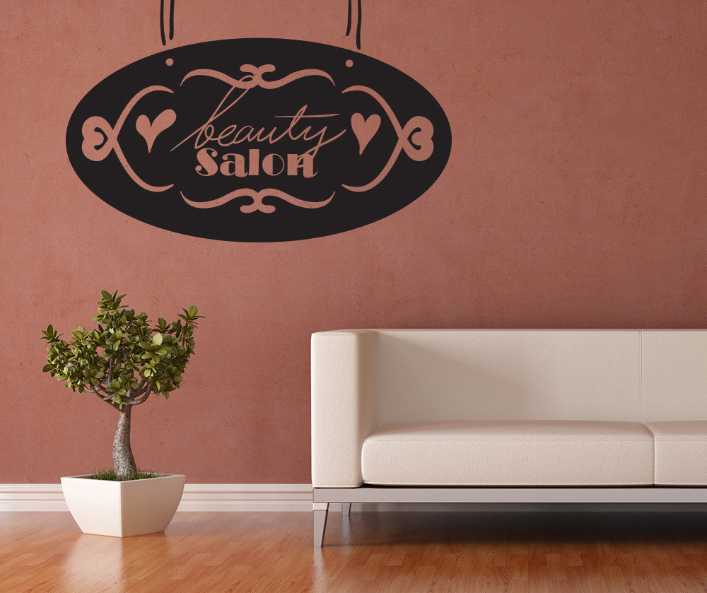 Vinyl Wall Decal Sticker Beauty Salon Sign OS MB1016