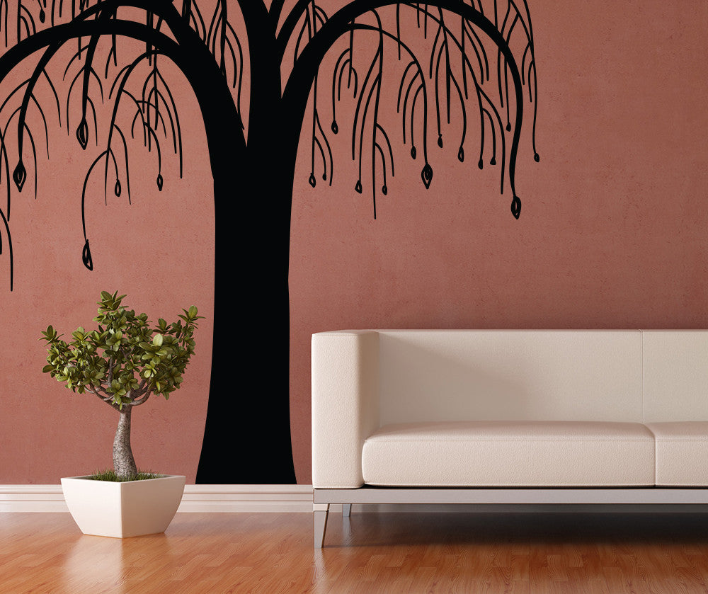 Vinyl wall decal sticker tree with hanging branches osmb1027 amipublicfo Choice Image