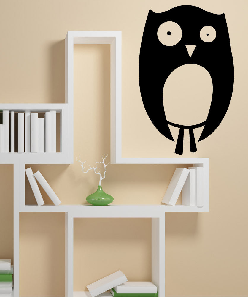 Vinyl Wall Decal Sticker Awkward Owl #OS_MB1066