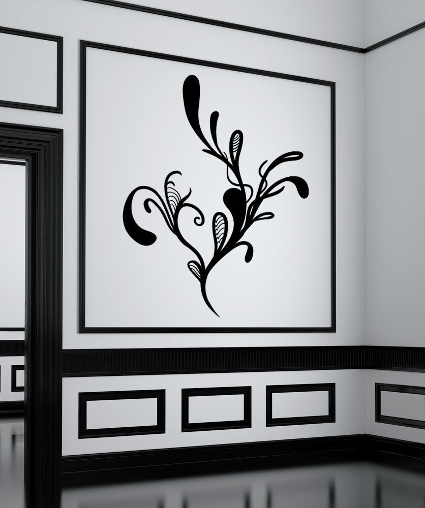 Vinyl Wall Decal Sticker Abstract Flower #OS_MB1070