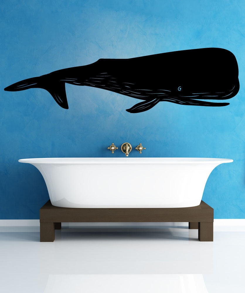 Vinyl Wall Decal Sticker Whale #OS_MB1102