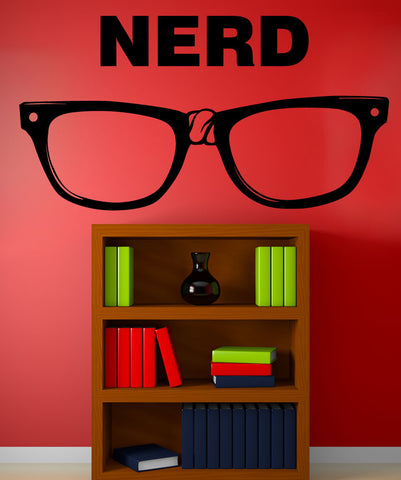 Vinyl Wall Decal Sticker Nerd #OS_MB1109
