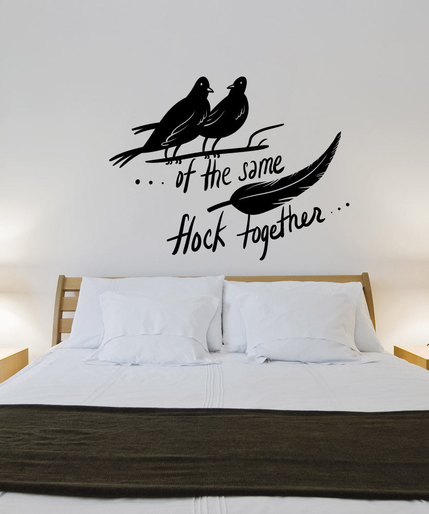Wall decals for home wall vinyl stickers vinyl art decals vinyl wall decal sticker birds of a feather osmb1149 amipublicfo Image collections