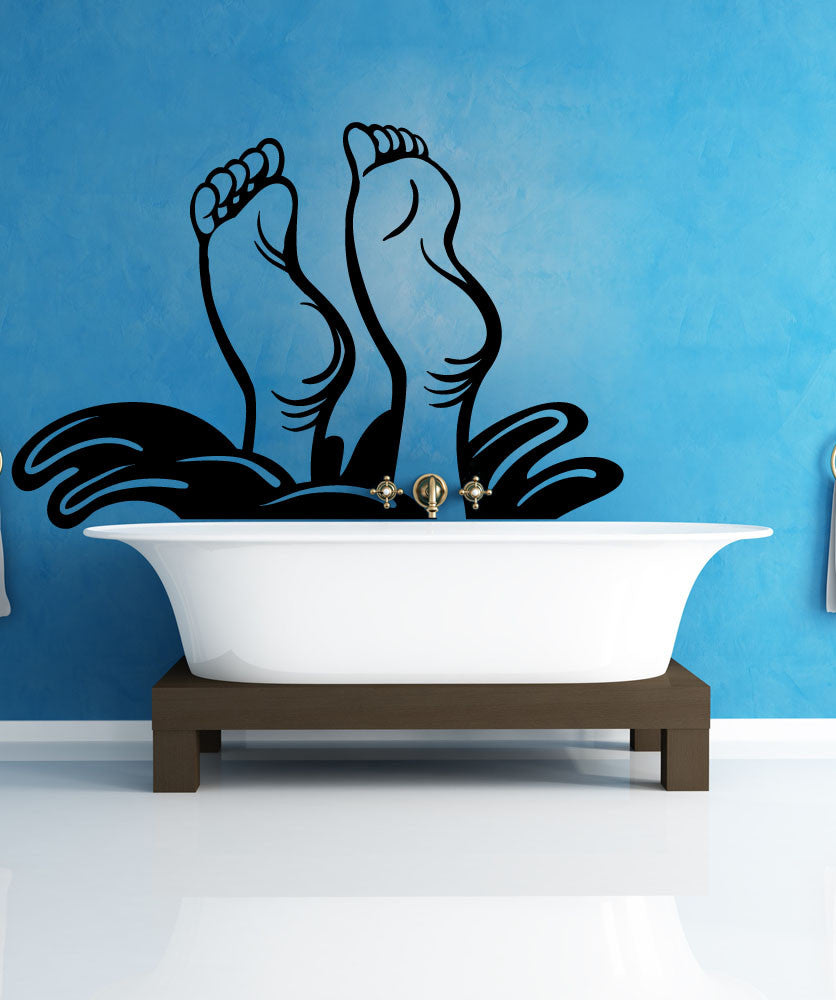 Vinyl Wall Decal Sticker Diving Feet #OS_MB1166