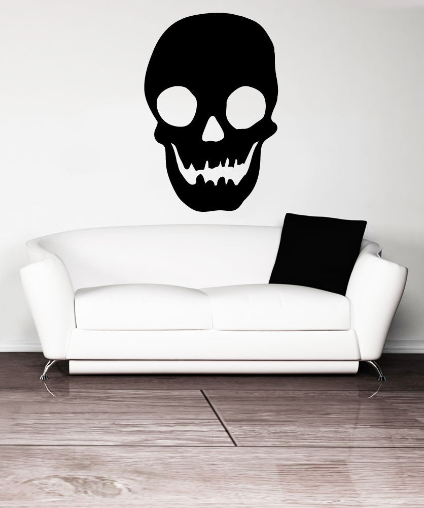 Vinyl Wall Decal Sticker Happy Skull #OS_MB1202