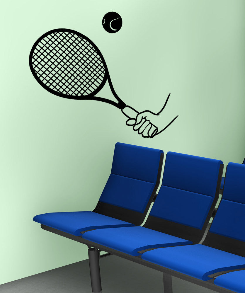 Vinyl Wall Decal Sticker Tennis Serve #OS_MB1211