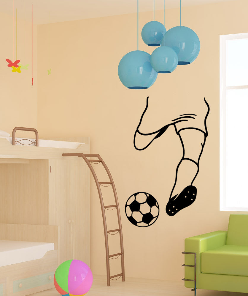 Vinyl Wall Decal Sticker Soccer Kick #OS_MB1212