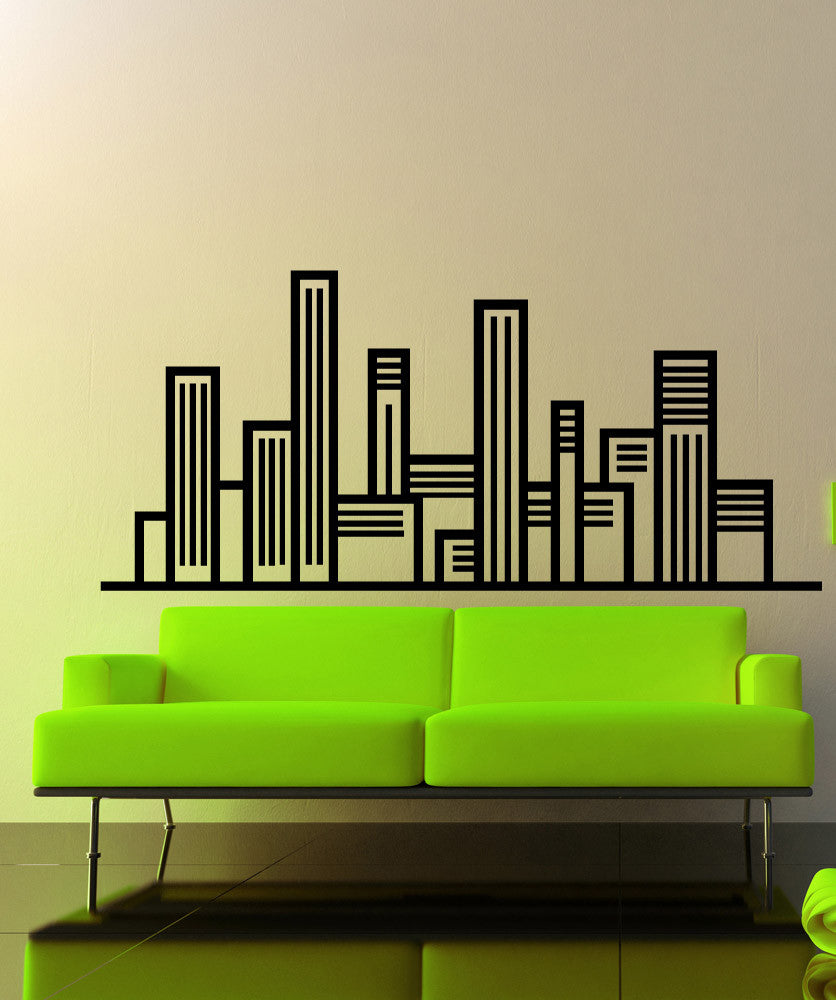 Vinyl Wall Decal Sticker Linear City #OS_MB1233