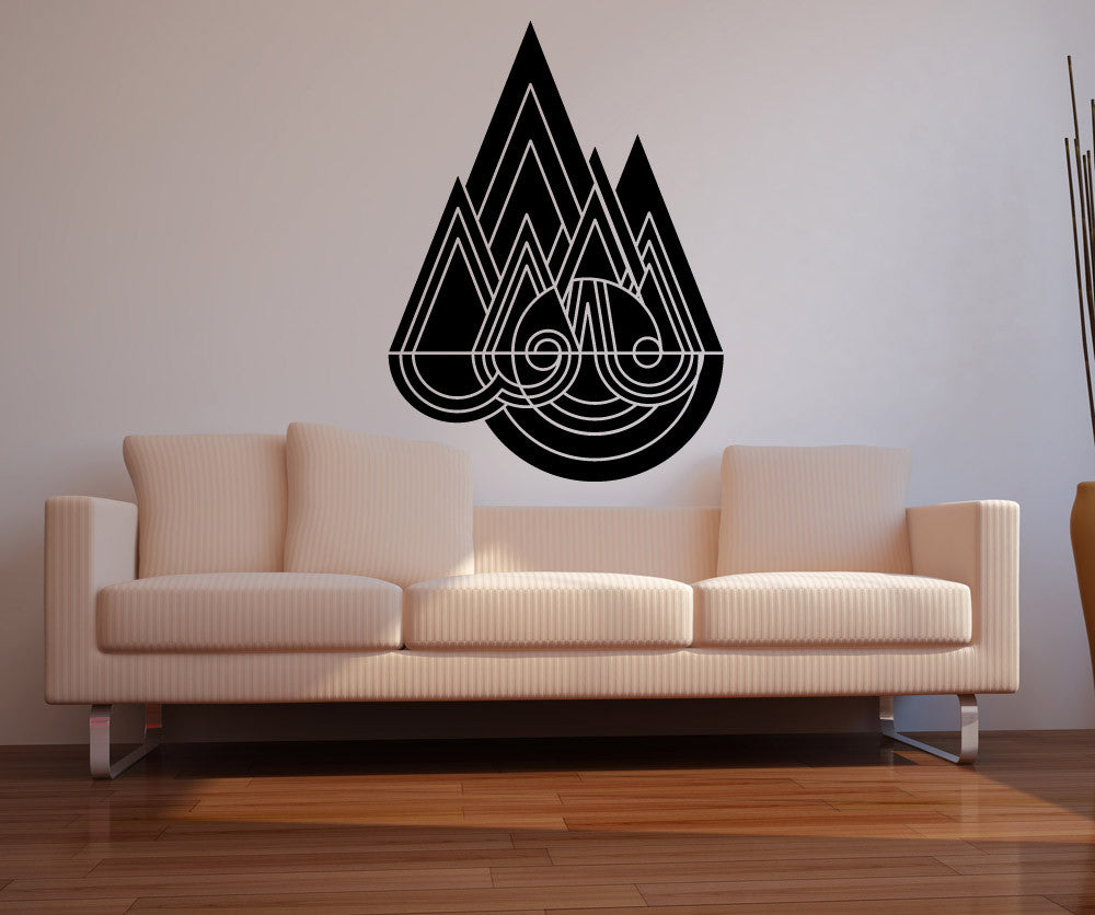 Vinyl Wall Decal Sticker Abstract Raindrops OSMB - Vinyl wall decals abstract