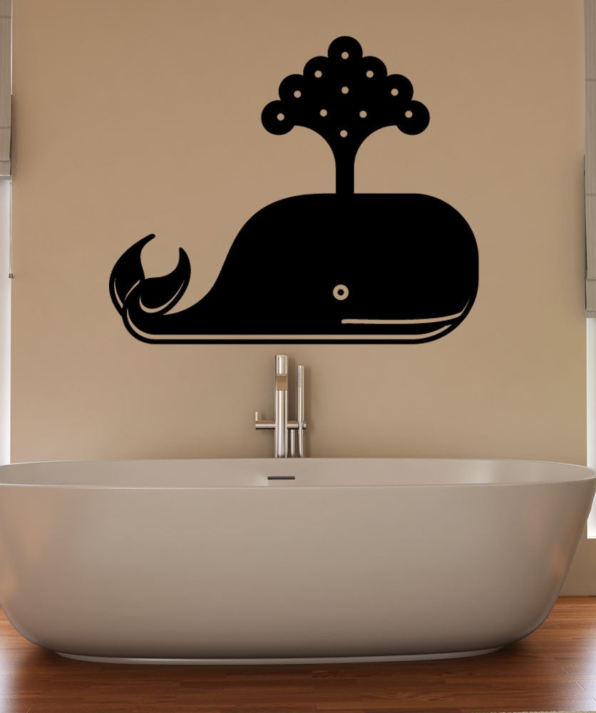 Vinyl Wall Decal Sticker Little Whale #OS_MB1239