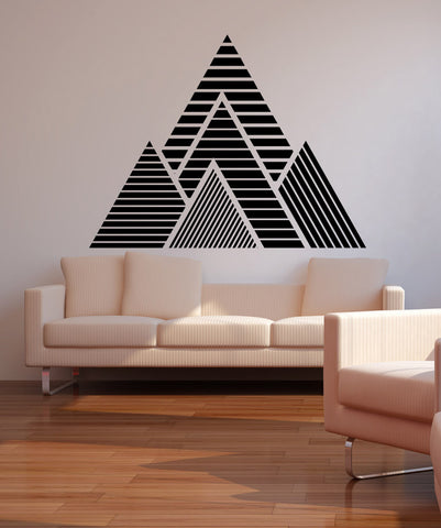 Geometric Mountains Vinyl Wall Decal Sticker  #OS_MB1247
