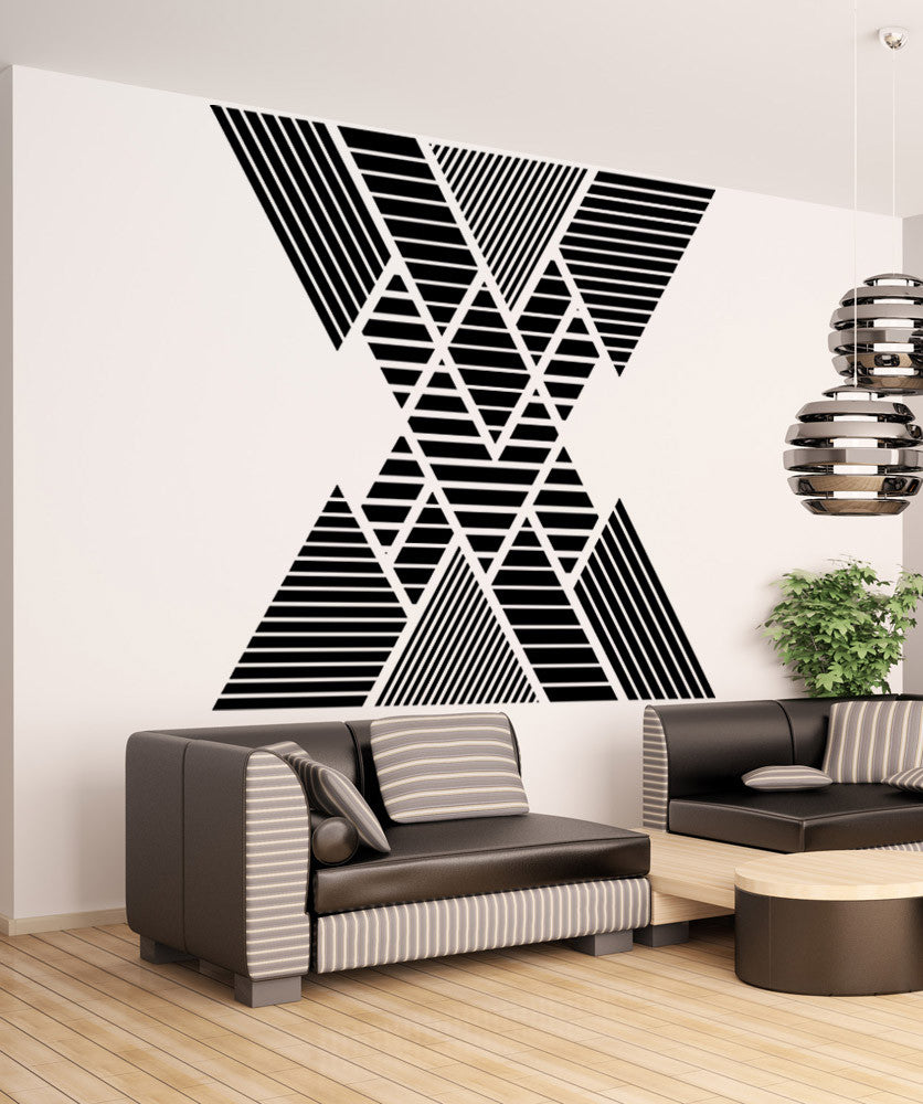 vinyl wall decal sticker double vision mountains os mb1248. Black Bedroom Furniture Sets. Home Design Ideas